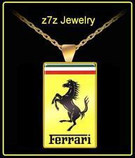 FERRARI Logo Necklace - SMALL emblem pendant famous foreign luxury car z7qq