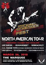 """MICHAEL SCHENKER """"NORTH AMERICAN TOUR"""" 2018 PHOENIX CONCERT POSTER - Hard Rock"""