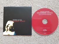 VERY RARE GEORGE MICHAEL ~ DECEMBER SONG CD SINGLE PROMO ~ 2011 ~ EX + CON