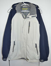 American Eagle Boardercross Coat Jacket w/Hood Insulated Lt Khaki/Navy Men's L