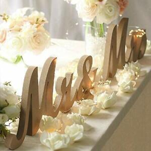 Mr & Mrs Letras De Madera Para Mesa De Boda Decoraciones Centros Mesa Wedding