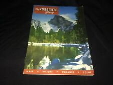 "1954 ""The Yosemite Story"" California National Park Color Book VTG Ephemera"