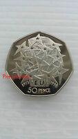 1998*UNC*UNITED KINGDOM EU EUROPEAN UNION ANNIVERSARY FIFTY PENCE 50P COIN