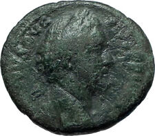 ANTONINUS PIUS 155AD Rome Authentic Ancient Roman Coin PROVIDENTIA i66121