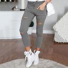 femmes skinny taille haute Jegging décontracté Extensible fourreau pantalon