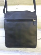 Derek Alexander Black Leather Travel Crossbody Bag Purse EUC organizer