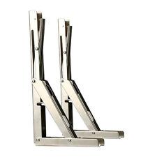 Pair Folding Shelf Bench Table Folding Shelf Bracket, Load: 660lb/300kg-07995Sn