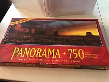 "'94 SEALED Milton Bradley PANORAMA 750 pc Puzzle 13X39"" Monument Valley AZ"
