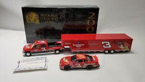 2000 BROOKFIELD #3 DALE EARNHARDT GOODWRENCH TAZ CAR & TRAILER W/ COA 1:24