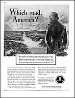 1938 Uncle Sam which road America United Beer Brewers vintage art print ad adl89