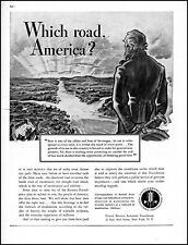 1938 Uncle Sam which road America United Beer Brewers vintage art print ad adl89