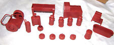 Marx reissue dairy farm playset accessories in red        E