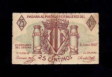 F.C. GUARDAMAR DEL SEGURA , 25 CENTIMOS , B/C+ .