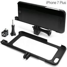Tripod Mount per iPhone 7 PLUS ACCESSORI Treppiede GoPro Go Pro Adattatore Guscio Bumper