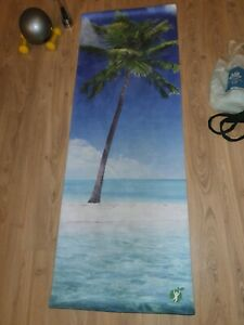 Yoga mat (Fitnesslifestyleco) with carry strap & divine goddess towel