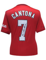 2019-20 Manchester United Home Shirt Signed By Eric Cantona 100% Authentic + COA