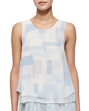 JOIE  $228 PORCELAIN OASIS SILK KALLISA LAYERED TANK TOP  M