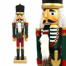 The Christmas Workshop 50cm Tall Wooden Soldier Nutcracker on Stand 81560