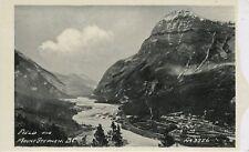 Field BC Mount Mt. Stephen Kicking Horse River Valley Yoho Nat. Park Postcard
