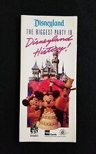 Vtg Disney Ephemera 1990 Disneyland Guide Map 35th Birthday Party Anniversary
