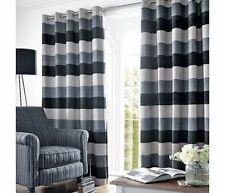 Just Contempo Polyester Striped Modern Curtains & Pelmets