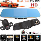 "5"" HD 1080P 170° Dash Cam Video Recorder Rearview Mirror Car Camera Vehicle DVR"