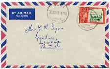 BRITISH SOLOMON ISLANDS AUKI to GANDINO 3d AIRMAIL INTER ISLAND 1963