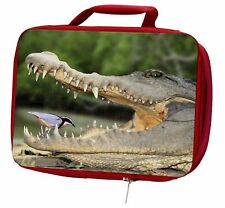 More details for nile crocodile, bird in mouth insulated red school lunch box/picnic ba, ar-c2lbr