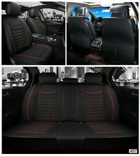 For Vw Golf MK 6 Black Fabric Breathable Luxury Front & Rear Car Set Seat Covers