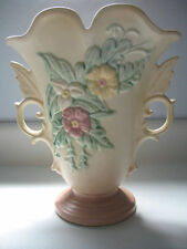 Hull Pottery Wildflower Vase W-9-8 1/2 Yellow Pale Mauv