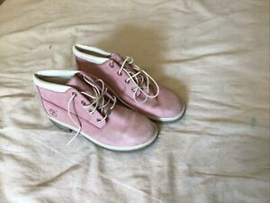 Timberland Womens Waterproof Nellie Chukka Pink Ankle Boots Size 9 M