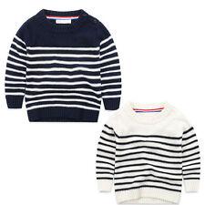 Markenlose Jungen-Pullover mit Rundhals-Ausschnitt aus 100% Baumwolle