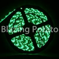 LumenWave 5M 5050 IP65 Waterproof Flexible 300 LED Strip Lights -Black PCB-Green