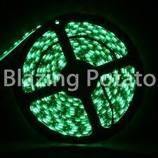 LumenWave 5M 5050 IP65 Waterproof Flexible 300 LED Strip Lights -Black PCB-Green