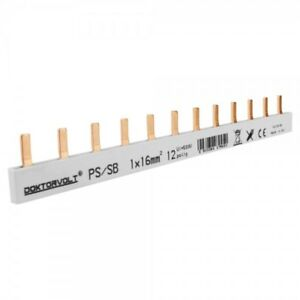 1P Phase Peg Stick 12p 16mm ² Ps / S Double Sided Insulated Track 100A Dv 9450