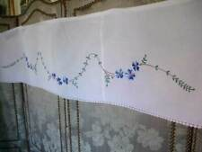 French Antique Floral Embroidery Cotton Window Self Display