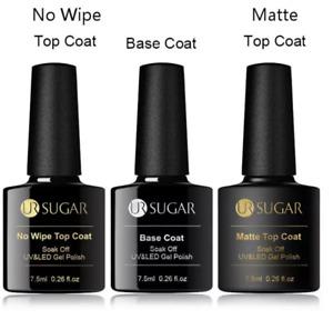 UR SUGAR 7.5 Base Coat, No Wipe top, Matte Top Coat UVGel polish -UK STOCK OFFER