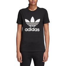 Adidas Originals T-Shirt Trefoil Nera Donna Codice CV9888 - 9W
