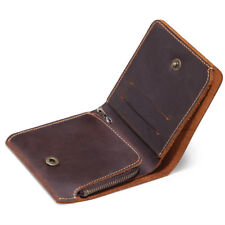Vintage Cowhide Leather Man Wallet Bifold Coin Purse Card Case 2018 New