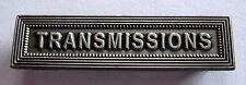 Agrafe barrette TRANSMISSIONS pour rubans de médailles militaires