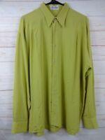 Barcelino Mens Green Size M Long Sleeve Shirt  j270