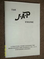 JAP J.A.P. STATIONARY ENGINE MANUAL MODELS 2A 2S 4F 4/2 4/3 O 5 6 & 55 >1952