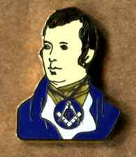 MASONIC ROBERT BURNS (RABBIE) ENAMEL LAPEL PIN BADGE FREEMASON MASONRY THE CRAFT