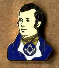 Masonic Robert Burns (rabbie) Enamel Lapel Pin Badge Freemason Masonry The Craft