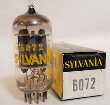 6072 SYLVANIA 12AY7 17MM GREY PLATE VACUUM TUBE NOS NIB PERFECT!