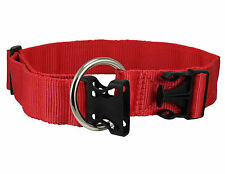 "Nylon Webbing Dog Collar Adjustable 15""-25"" neck size Bulldog Pitbull Boxer"