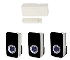 Door Entry Magnet Contact with 3 Black 32 Melody Chime Sensor - Shop Entry Alert