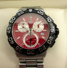 Tag Heuer F1 Formula One Chronograph Gents Watch Red CAH1112 Boxed & Papers