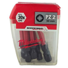 Milwaukee PZ2 x 50mm Torsion Bits Screwdriver Adaptor 30x Long Life Impact Duty