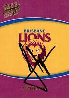 ✺Signed✺ 2014 BRISBANE LIONS AFL Card JUSTIN LEPPITSCH